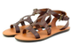 Pair View:Women's Shoes, Madeline Shoes Delani Sandal, Brown flat gladiator sandal