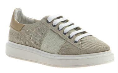 """Quarter View. Women Shoes Online, Women's Shoes, Women's Sneakers. OTBT Normcore. Classic Sneaker with Suede and leather upper and versatile lace option. 1.38"""" heel height. Color: MidTaupe"""