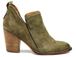 Side View: Women's Shoes, Women's Bootie, Burman 2 in Khaki (green)