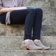 """Lifestyle View. Women Shoes Online, Women's Shoes, Women's Boots. Madeline Girl Tranquile, 1.3"""" heel bootie, perforated leather. Light Mud."""
