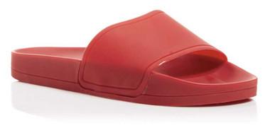 """Quarter View 1: Women's Shoes, Women's Sandals, Jeffrey Campbell Follow Lo Slides, 1"""" platform, Color: Red Matte"""