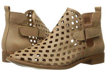 "Pair View: Women's Shoes, Women's Bootie, Perforated leather, 1/2"" heel, Musse & Cloud, Color: Taupe"