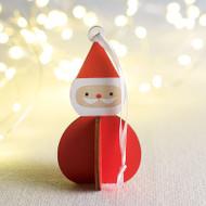 "Nordic Santa Ornament - 4"" H"