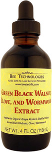 Green Black Walnut, Clove, and Wormwood Extract - 4oz