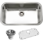 Houzer BSG-3018 Houzer Belleo Series Topmount Large Single Bowl Kitchen Sink Stainless Steel BSG-3018