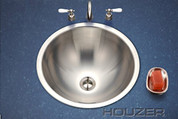Houzer Club Houzer Opus lavatory conical bowl, 6-1/4 IN D, 18 ga Single pack Stainless Steel CRT-1620-1