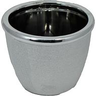 Viz Floral Glass Silver Vase 7x4x6