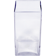 Viz Floral 3x3x8 rectangular glass vase