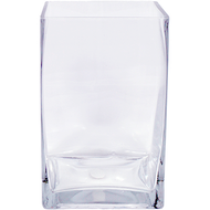 Viz Floral 5x5x8 rectangular glass vase