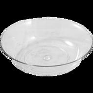 """Viz Floral Pie Dish 11"""" Clear"""