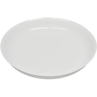 "Viz Floral Low Pie Dish 11"" White"