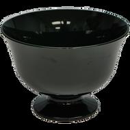 """Viz Floral Fruit Bowl 6"""" Black"""