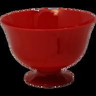 """Viz Floral Fruit Bowl 7 1/2"""" Red"""