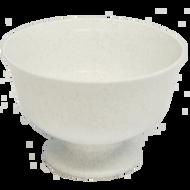 "Viz Floral Fruit Bowl 9 1/2"" Stone White"