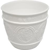 Viz Floral funeral basket vase 8x7 white