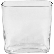 Glass Envelope Vase 2x7x8 (12 Per Case)