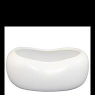 "Ceramic Vase 10""x 6""x 4"" White"