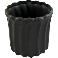 "Ceramic Pot Vase 7"" x 7.5""Black"