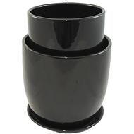 "Ceramic Vase Set 5""x 5""x 6""+ 7""x 7""x 7"" White"