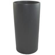 "Ceramic Cylinder Vase 6.5"" x 13"" Black"