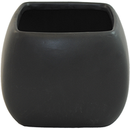 "Ceramic Cube Curved 6"" x 6"" x 6"" Black"