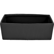 "Viz Floral Ceramic Rectangular Pot 5"" x 12"" x 4"" Black"