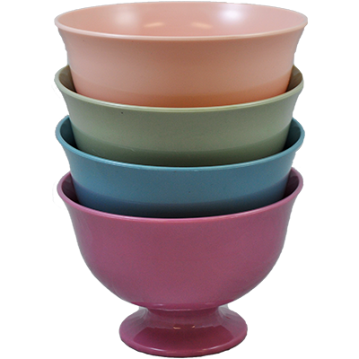 "Fruit Bowl 7 1/2"" Pastel Colors Assortment"