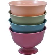 """Viz Floral Fruit Bowl 9 1/2"""" Pastel assortment of colors"""