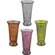 "Viz Floral Glass Vase 5.625"" x 4"" x 10.5"" Assorted"