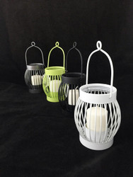Hanging Metal Basket Votive