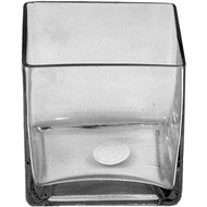 "Glass Cube 3""x 3""x 3""- Clear (Case of 24)"