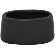 "Ceramic Pot 9""x5""x6"" Black"