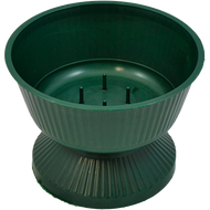 "Plastic Floral Bowl 6"" with Pedestal Green"