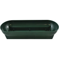 """Plastic Floral Double Utility Bowl 14""""x10-3/4""""x7-1/4"""" Green"""