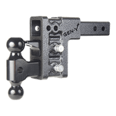 "GH-323   Drop or Rise 5"", Includes 3 slot Hitch, 2-5/16"", 2"", ball mount, pintle lock 10,000 LBS"