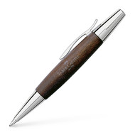 Emotion Dark Wood Brown and Chrome Ball Pen