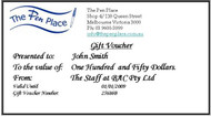 $150 Gift Voucher from The Pen Place