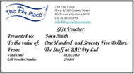 $175 Gift Voucher from The Pen Place