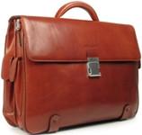 Piquadro Tamponato Tan Twin Gusset Briefcase