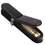 Visconti Single Italian Leather Zip Around Pen Pouch