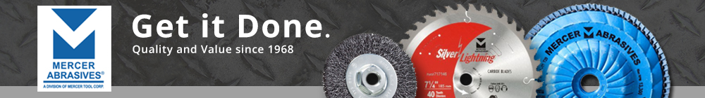 Mercer Abrasives, Cut Off Wheels, Files & Rasps at AFT Fasteners