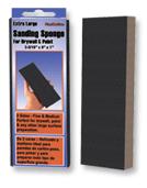 "Extra Large Sanding Sponges - 3-5/16"" x 9"" x 1"" , Grade: Fine/ Medium, Grit: 220/ 120, Mercer Abrasives 278LFM (12/Pkg.)"
