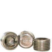 "Image of 3/8""-18 Pipe Plugs 18-8 Stainless Dry-Seal 3/4"" Taper (50/Pkg.)"