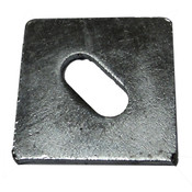 "5/8""X3""X0.25 Slotted Square Plate Washer Plain (80/Bulk Qty.)"