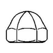 #8-32 Acorn Nut, Stainless Steel 304, UNC, 1 Piece (5000/Bulk Pkg.)
