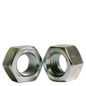 "1 1/2""-12 Finished Hex Nut, Grade 5, Fine Medium Carbon Steel, Zinc Cr+3 (55/Bulk Pkg.)"