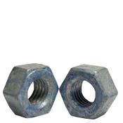 "1 1/4""-7 A563 Heavy Hex Nut Grade DH Coarse Medium Carbon Steel, Hot Dip Galvanized/Wax/Blue Dye (50/Bulk Pkg.)"