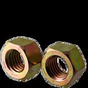 "1 1/4""-12 Finished Hex Nuts, Grade 8, Fine, Medium Carbon Steel, Zinc-Yellow Cr6 (50/Bulk Pkg.)"