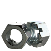 "1 1/8""-7 Slotted Finished Hex Nuts Coarse Zinc Cr+3 (10/Pkg.)"