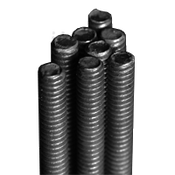 "1""-8x3' UNC A307 Grade A All Thread Rods Plain (3/Pkg.)"